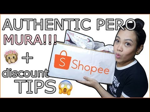 SHOPEE HAUL! (MURANG AUTHENTIC ITEMS + TIPS)   Pat Suarez (Philippines)