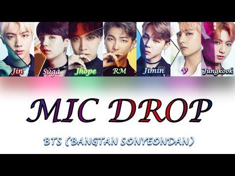 BTS (방탄소년단) - MIc Drop (Steve Aoki Remix) Lyrics [Color Coded Han_Rom_Eng] indir