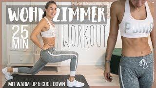 Wohnzimmer Hiit Workout - Bauch Beine Po und Oberkörper - mit Aufwärmen und Cool Down