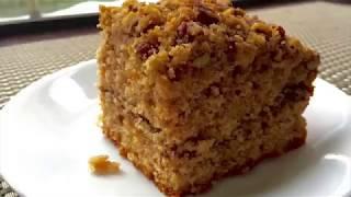 Cinnamon Coffee Cake with Pecan Streusel