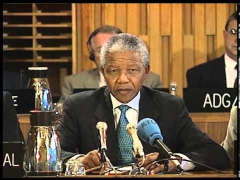 Nelson Mandela At UNESCO Executive Board, 13 October 1993