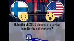 Katso Netflix USA:n valikoimaa Suomesta - VPN-SUOMI.fi