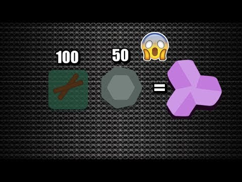 Starve.io // THE MOST DIFFICULT CHALLENGE OF ALL // GET AMETHYST WITH 100 WOODS AND 50 STONES