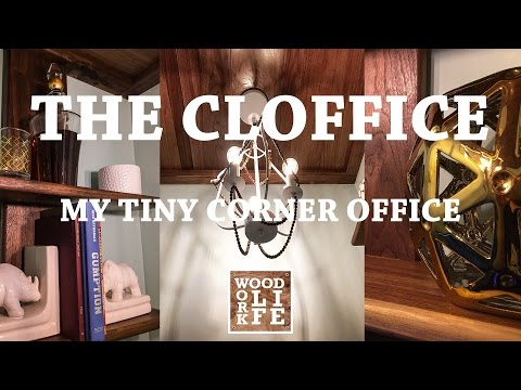 DIY Closet Office [Cloffice] Converting a Closet Into an Office | Woodworking Builds