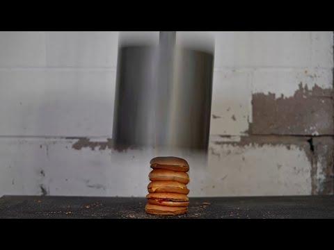 Download Youtube: World's HEAVIEST Dumbbell (420lb) vs McDONALD's CHEESEBURGERS Test!