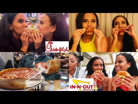 TRYING AMERICAN FAST FOOD (IN-N-OUT, CHICK-FIL-A & MORE!)