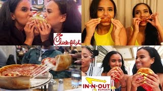 TRYING AMERICAN FAST FOOD (IN-N-OUT, CHICK-FIL-A & MORE!)   Osh and Akela