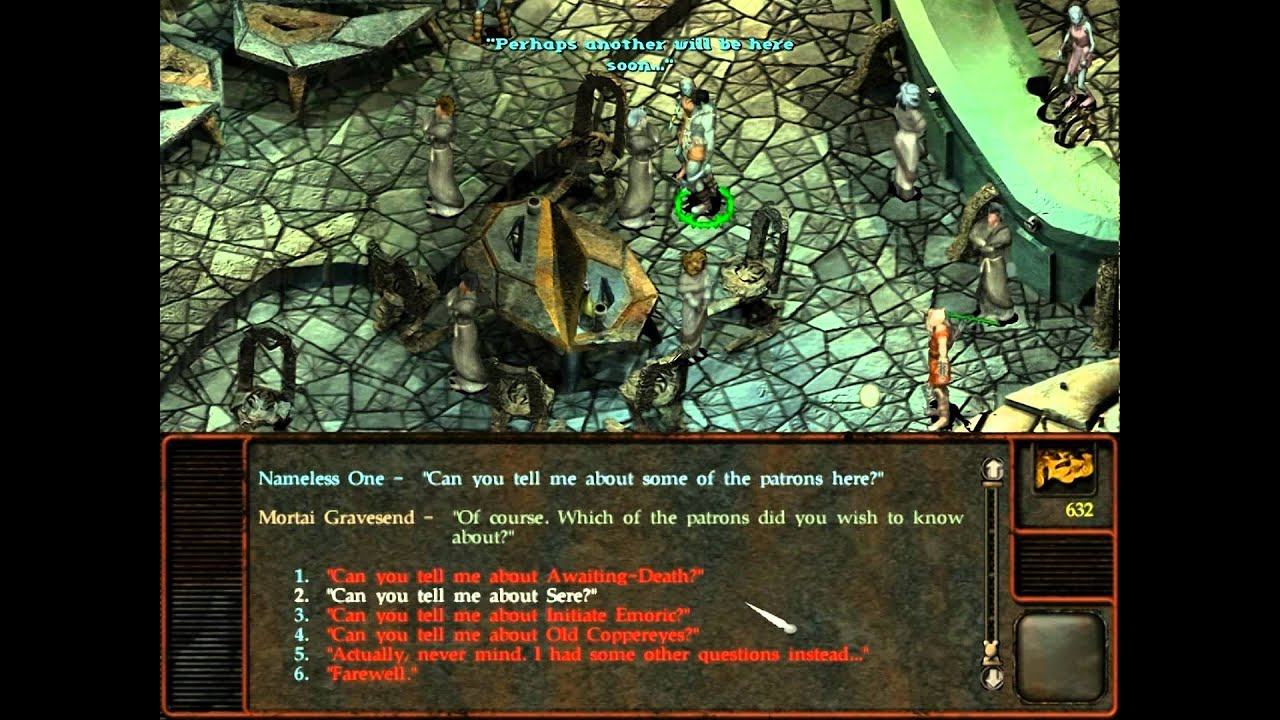 planescape torment how to get out of the mortuary