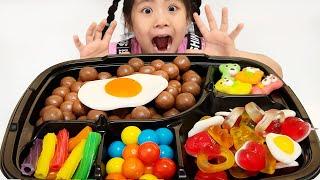 도시락 젤리를 만들어봤어요 서은이의 엄마 도시락 보고 젤리 초콜렛 도시락 싸기 먹방 몰티져서 후라이 젤리 Jelly Lunch Box Seoeun Story