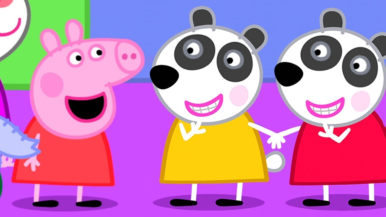 Peppa Pig English Episodes Meet Peppa Pig S New Friends Panda Twins Peppa Pig