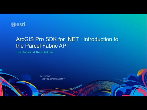 ArcGIS Pro SDK for .NET: Introduction to the Parcel Fabric API