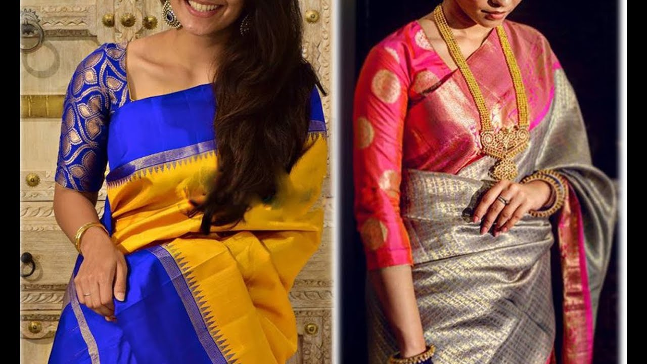7573b7c9d84ac Rich look With Brocade Blouse Designs For Silk Saree