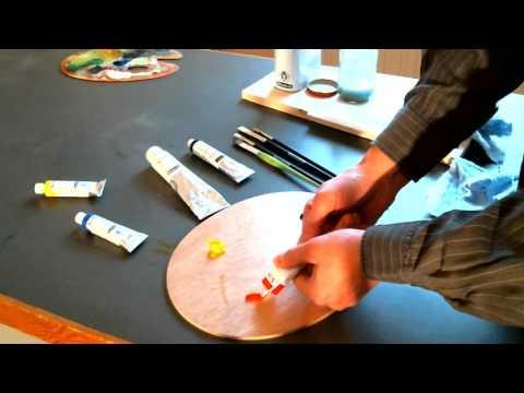 Ölfarbe, Palette – Tutorial: Ölbild malen (1)