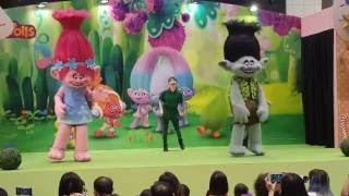 Dec 2016 Trolls the movie characters Live @takashimaya Singapore