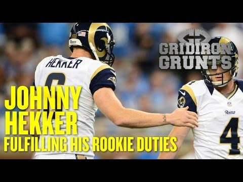 St. Louis Rams Punter Johnny Hekker Talks About Fulfilling His Rookie Responsibilities