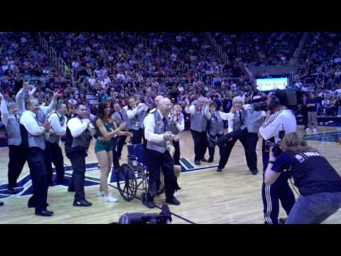 Jazz Final Game: Ushers Dance on the Floor @ Energy Solutions Arena