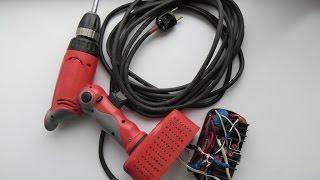Аккумуляторный шуруповерт 18В от сети 220В, на базе балласта от энергосберегающей лампы