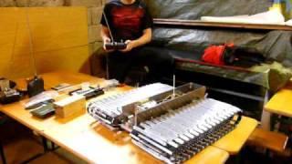 RC Pistenbully Maßstab 1:6 Eigenkonstruktion bei der Erprobung