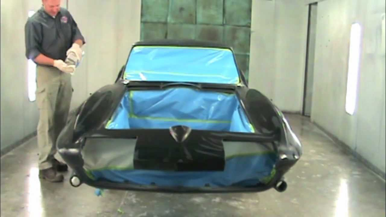 1963 Corvette Lacquer Paint Job Part 1mov YouTube