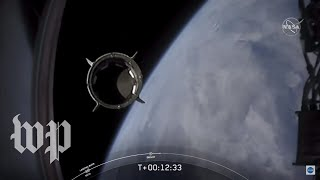Watch the historic full launch of the SpaceX Crew Dragon capsule