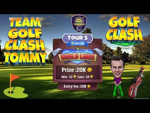 Golf Clash tips, Hole 4 - Par 4, Greenoch Point - World Links, Tour 5 - GUIDE/TUTORIAL