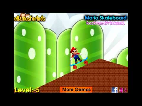 Play Free Online Mario Games For Kids - Mario Skateboard Game - Mario Games - 동영상