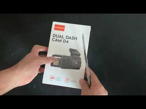 KINGSLIM D4 4K Dual Dash-Cam- Unboxing and Testing