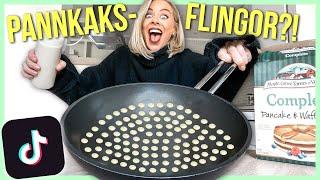 Testar TIKTOK-recept   pannkaks-flingor?!