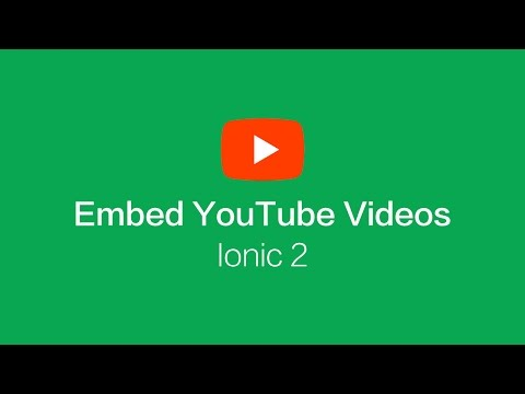 Using the DomSanitizer to Embed YouTube Videos in Ionic 2 / Angular Applications