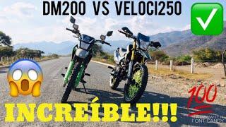 VELOCI XVR250 VS DM200 /INCREÍBLE/ CUAL ES MEJOR Y CUAL CORRE MAS !!