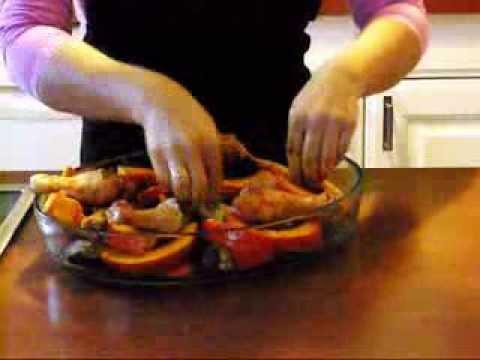 hähnchenkeulen-mit-kürbis,-fleischgerichte,-huhn,-ofengerichte,-orientalisch,-canans-rezepte