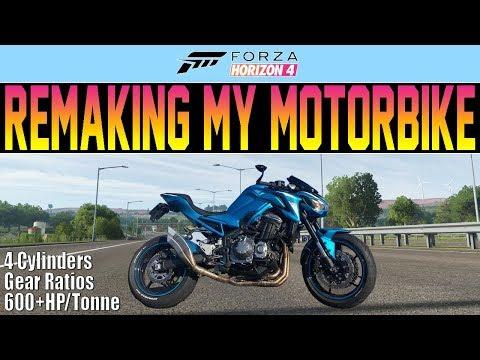 Forza Horizon 4 - Remaking My MOTORBIKE! (With A Car) 600HP/Tonne, Gear Ratios thumbnail
