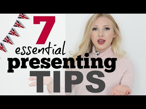 7 Tips for Presenting & Public Speaking | Presentation and Speech Skills in English #Spon
