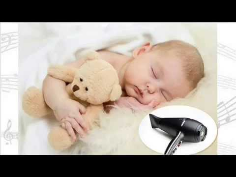 Uklidňující zvuky fénu působící na miminko 10h