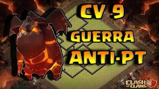 LAYOUT CV9 GUERRA ANTI 3 ESTRELAS | NEW TH9 WAR BASE | CLASH OF CLANS