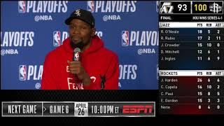 Kevin Durant Postgame Interview // Game 5 // Clippers vs Warriors // 2019 NBA Playoffs