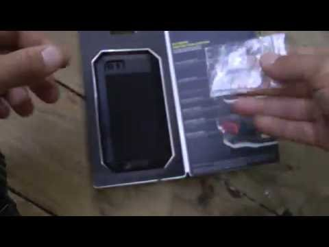 the latest cef87 4914a Metal Aluminum Case with Gorilla Glass Waterproof Shockproof for iPhone 5S  5C 5 SE - BLACK