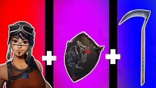 Top 10 BEST TRYHARD SKIN,BACKBLING + PICKAXE Combinations In (Fortnite Battle Royale)