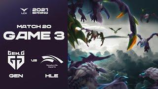 황부리그 속으로   젠지 vs. 한화생명 Game3 H/L 01.24   2021 LCK Spring Split
