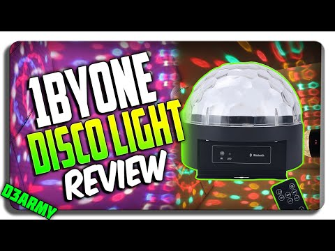 1byone® DISCO Ball Light REVIEW! (Bluetooth Speaker & LED Dome Light)