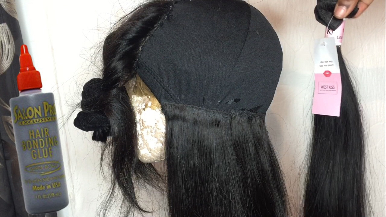 How to make a wig with bonding glue