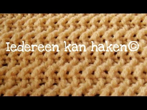 Iedereen Kan Haken Gekruist Stokje Crossed Stitch Leren Haken