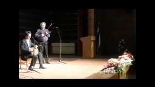 Tombak and violin Iranian musician