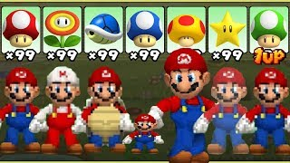 New Super Mario Bros. DS - All Power-Ups