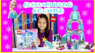 Lego Disney Frozen Elsa's Sparkling Ice Castle Review 41062 With Princess Anna & Olaf In Sleigh