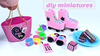 DIY My Little Pony Miniatures - Roller Skates, Ice Cream, Rubix Cube, & More