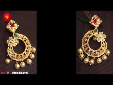 Latest South Indian Pearl Earring Designs