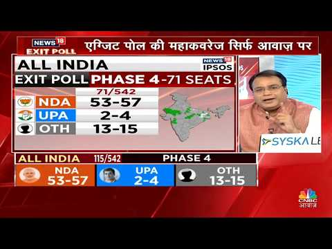 Exit Polls for Phase 4 of Lok Sabha Elections 2019 | CNBC Awaaz Live TV| Business News In Hindi Live