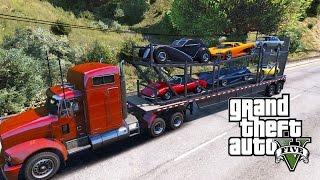 GTA 5 Story #25 - Phi vụ vận chuyển siêu xe trái phép trên đường cao tốc | ND Gaming