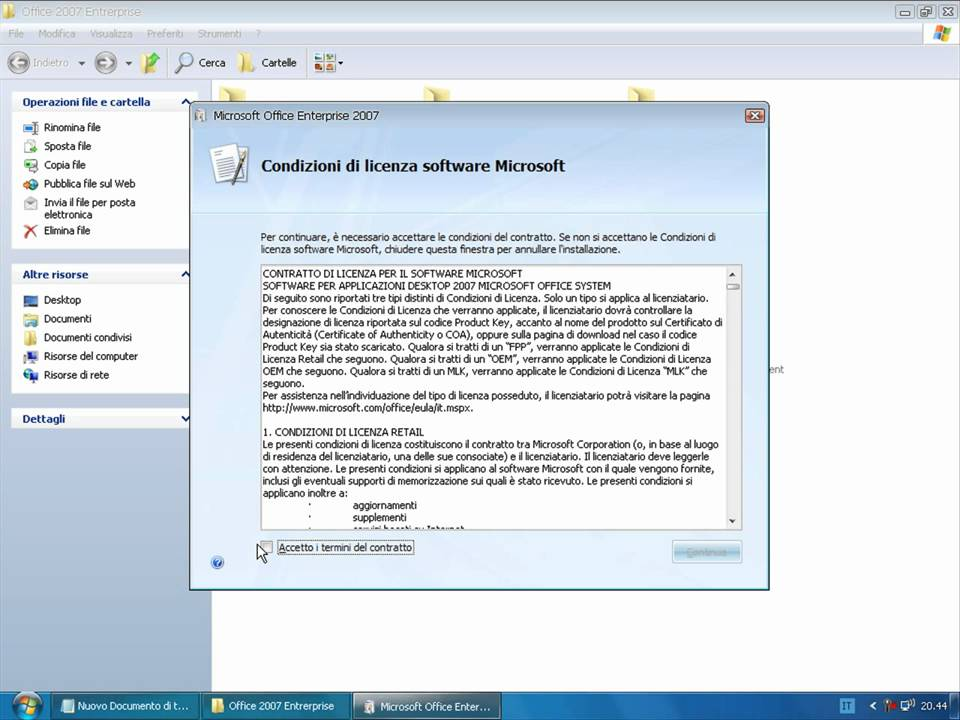 pacchetto microsoft office 2007 download gratis italiano
